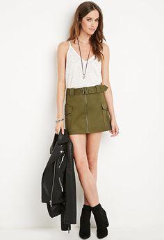 Belted Pocket Skirt
