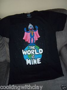 New Sesame Street Super Grover The World Is Mine Mens Shirt Size Large Tag | eBay