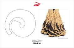 Five types of flyers you should know Flamenco Costume, Flamenco Dancers, Costume Patterns, Dress Sewing Patterns, Skirt Patterns, Sewing Clothes, Doll Clothes, First Sewing Projects, Dress Up Costumes
