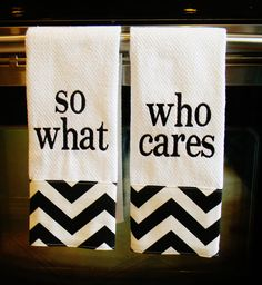 I like the idea of monogramming kitchen & bathroom towels...better learn how to use that embroidery machine