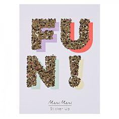 Glitter Stickers For Fun Girls | Meri Meri | UK | Luxury Party Shop Derbyshire