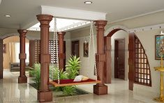 Kerala Interior Design Photos House - Decoration Home Home Interior Design, Indian Interior Design, House Interior, Chettinad House, Kerala House Design, Beautiful Houses Interior, Traditional House, Indian Home Design, Kerala Houses