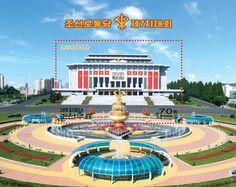 조선로동당 제7차대회가 제시한 강령적과업들을 반영한 우표 발행