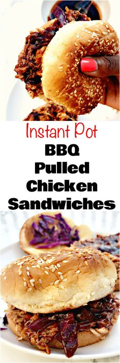 Instant Pot BBQ Pulled Chicken Sandwiches is a quick and easy recipe that allows you to prepare home-cooked BBQ without a grill!