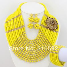 Find More Jewelry Sets Information about Free Shipping Crystal Wedding Jewelry Set African Beads Jewelry Sets 2014 New 12 Rows Beads Necklace Set Wholesale AJS180,High Quality Jewelry Sets from Emily's Jewelry DIY Store on Aliexpress.com
