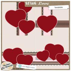 With Love, Templates #plaindigitalwrapper #pdw #digitalscrapbook #scrapbook #digital #memorykeeping #designsbyromajo #templates