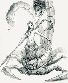 Dark Souls 2 - Najka Scorpio Art, Scorpio Woman, Scorpio Zodiac, The Last Giant, Dark Souls 2, Bloodborne, Fantastic Art, Old Things, Creatures