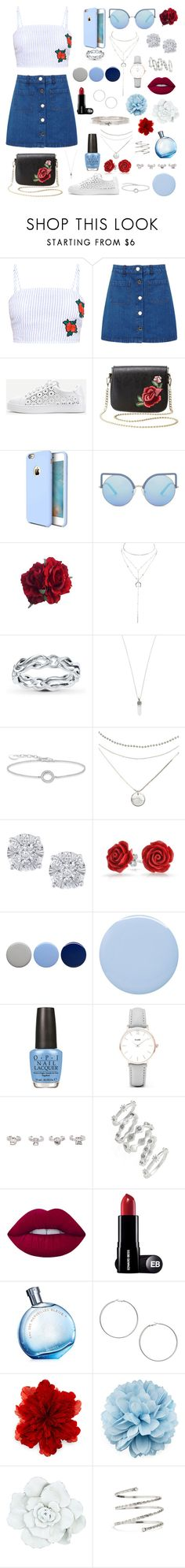 """""""rosy blue"""" by mayachera ❤ liked on Polyvore featuring Miss Selfridge, WithChic, Charlotte Russe, Torras, Matthew Williamson, Marc Jacobs, Thomas Sabo, Effy Jewelry, Bling Jewelry and Burberry"""