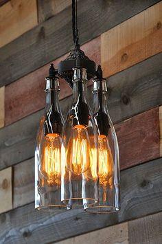 Inspiracje w moim mieszkaniu {Inspiration in my apartment}: DIY butelkowe.Pomysł na zużyte szklane butelki. / ...