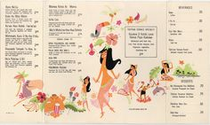 Disneyland's Tahitian Terrace, Lunch Menu, 1963. Via Kevin Kidney