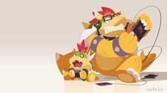 Bowser king of koopas and good father by @oxfruit