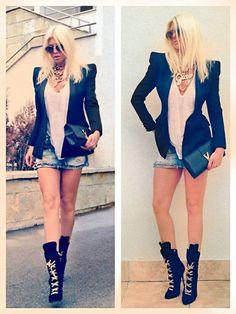 blazer and chains