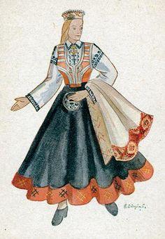 Latvian folk dress.