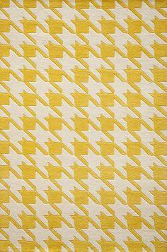 lostinpattern:  Yellow Houndstooth Rug