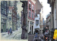 Gravenstraat, Amsterdam Anton Pieck, Amsterdam Art, Street View, Hu Ge, Nostalgia