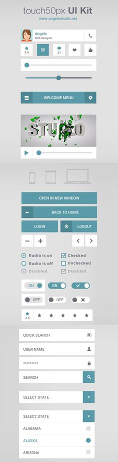28 Free PSD UI Kits For Mobile Apps & Web Design