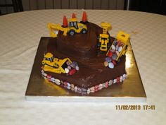 Connor's Construction Birthday Cake (Back)