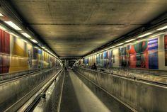 De Brouckere metro station in Brussels, Belgium