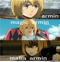 Attack On Titan Armin | Armin(Attack On Titan) Magic Armin(I Don't Know) Mafia Armin(Death Note <3)