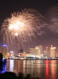 It was a great way to welcome the new year...down on the banks of the Mississippi River!  ~slj~