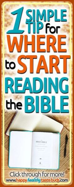 The reason women don't read the Bible is not knowing where to start. But you can learn exactly how to start reading the Bible with this one simple tip! Click through to get started reading the Word of God. Bible Study Guide, Bible Study Tools, Scripture Memorization, Bible Scriptures, Scripture Study, Bible Quotes, Praying For Others, Christian Life, Christian Living