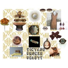 Vintage Bronze Beauty by hbjewelry on Polyvore featuring interior, interiors, interior design, home, home decor, interior decorating, Lazuli, Chanel, Fenton and vintage