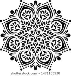 Paper Cutting Patterns, Stencil Patterns, Stencil Designs, Mandala Drawing, Mandala Art, Geometric Mandala Tattoo, Beautiful Flower Drawings, Pencil Drawings Of Flowers, Laser Cut Stencils
