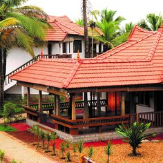 Village House Design, Bungalow House Design, Village Houses, House Outside Design, House Front Design, Tiny House Design, Kerala Traditional House, Traditional House Plans, Indian Home Design