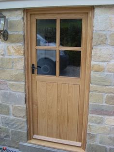 half glazed external oak door - Google Search