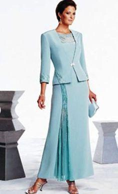 Tiffany blue tea length dressy dresses | Formal bride's mother's wedding dresses and Formal Mother-of-the-Bride ...