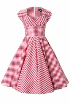 Robe Vintage Vichy Rose :  Lazy River - Hell Bunny