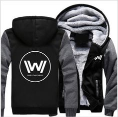 Wholesale US Size TV Series Westworld Autumn Winter Women Men Hoodie Zipper Jacket Casual Clothing Outwear Sweatshirts Sportwear
