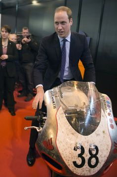 Prince William Visits Motorcycle Live 30 Nov 2013