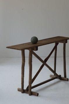 Démodé Furniture, side wooden table
