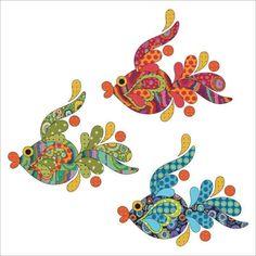 Tropical Fish - Dotz - Applique Set By Patricia E. Ritter Laser-cut fabric applique elements backed with Steam-A-Seam 2 Wool Applique Patterns, Applique Templates, Sewing Appliques, Applique Quilts, Applique Designs, Quilting Designs, Machine Embroidery Designs, Embroidery Patterns, Quilt Patterns