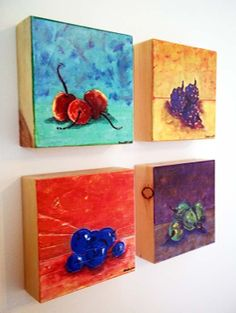 Art Blocks 4 Fruit Paintings Collection from my by UrbanCreative, $100.00