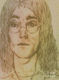 Portrait Of John Lennon Drawing