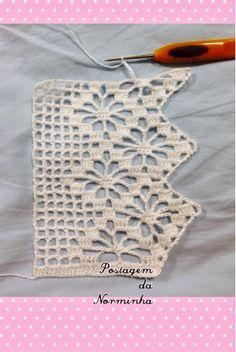 Notte Rosa filet crochet top p Crochet Boarders, Crochet Edging Patterns, Crochet Lace Edging, Crochet Motifs, Crochet Chart, Thread Crochet, Crochet Trim, Crochet Designs, Crochet Doilies