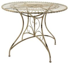 Create an elegant dining space on your patio with the Oriental Furniture Rustic Wrought Iron Patio Dining Table . This generous wrought-iron table features. Furniture Dining Table, Iron Table, Solid Wood Dining Table, Rustic Table, Patio Dining, Patio Table, Rustic Furniture, Rustic Chic, Shabby Chic