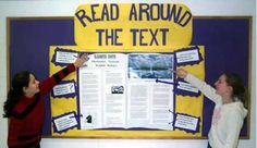 High School Reading Bulletin Board | more strategies about high five learn more about high five middle link ...