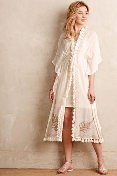 Baila Embroidered Kimono Dress