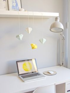 DIY Gem Piñatas for above the desk. love!