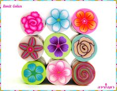 Colorful Millefiori Flower Canes | von Ronit golan