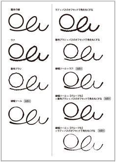 イラレで手描き風の線の描き方色々 | 鈴木メモ