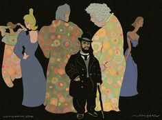 Lautrec and His Ladies by Milton Glaser