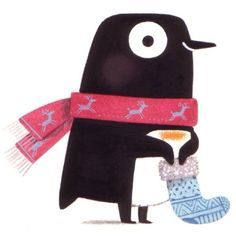 Penguin with stocking