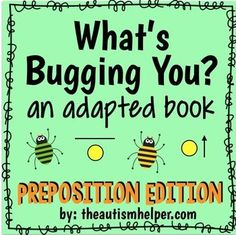 What's Bugging You? Preposition Edition! Adapted Book by theautismhelper.com