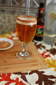 Pumpkin Vanilla Cocktail with Spiced Sugar Rim | Beantown Baker  Am I making anyone thirsty yet?