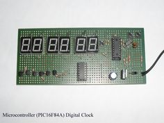 PIC16F84A Digital Clock Diy Electronics, Electronics Projects, Pic Microcontroller, Electronic Engineering, Digital Clocks, Arduino, Diy Projects, Circuits, Porsche