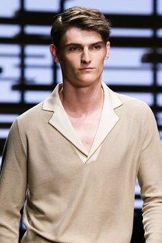 Shop designer clothes, shoes, bags & accessories for Men & Women from all over the world. Knit Shirt, Polo Shirt, Salvatore Ferragamo, Models, Modern Luxury, Spring 2015, Men Sweater, Mens Fashion, Detail